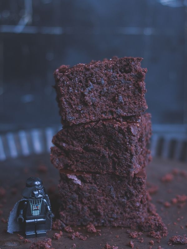 vegan Darth Vader brownies (Star Wars) / vegane Darth Vader Brownies