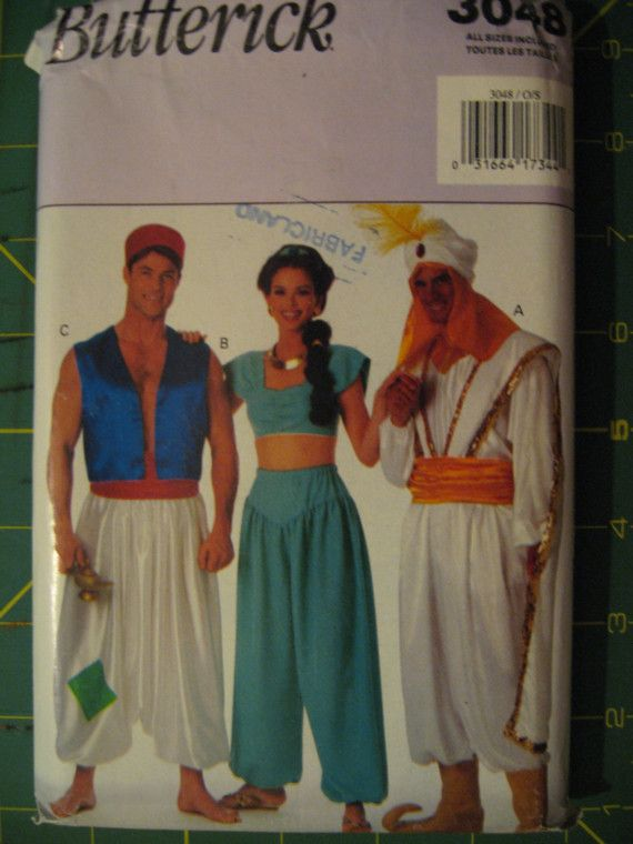 Halloween Costume Pattern Disney Aladdin by SylMarCreations - easier to make this one modest enough for school than some others...