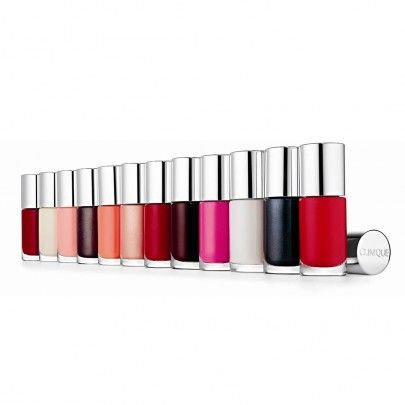 Clinique, A Different Nail Enamel.  Glossy, long-wear colour that's easy on the eyes...meaning it helps reduce the chances eyes will itch, burn or water with contact. Quick-drying. Ophthalmologist tested.