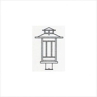 """Arroyo Craftsman KP Kennebec Post Lantern by Arroyo Craftsman. $212.40. Arroyo Craftsman KP Features: -Kennebec collection. -Available in several finishes. -Available in several shade colors. -UL listed. -Suitable in wet location. Specifications: -Accommodates: 1 x 60W / 100W medium incandescent bulb. -ID post cup: 3"""". -Available sizes:. -15.63"""" Overall dimensions: 15.63"""" H x 12.25"""" W. -11.25"""" Overall dimensions: 11.25"""" H x 8.75"""" W. Note: Arroyo Craftman items with Ant..."""