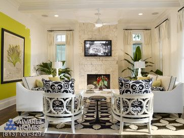Tropical Living Photos Family Room Design Ideas Pictures Remodel And Decor Page 7 For The