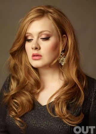 """""""Adele wears a light strawberry bordering on caramel color."""" I love this color, but quick fading makes it so hard to maintain..."""