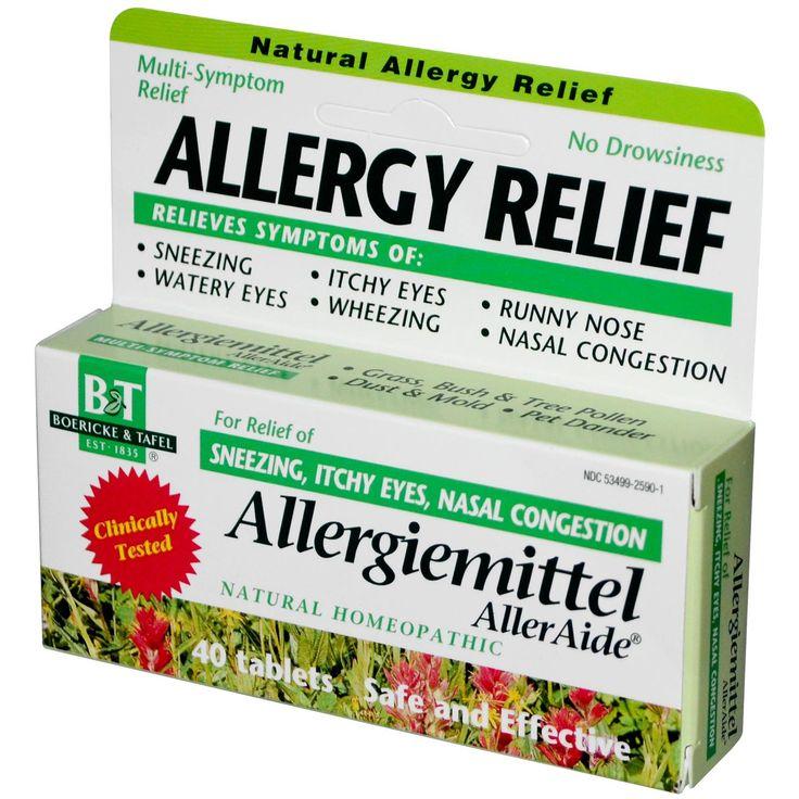 Boericke & Tafel, Allergy Relief, Allergiemittel AllerAide, 40 Tablets - iHerb.com