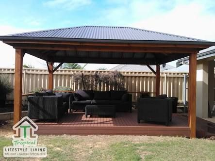 Colourbond and timber gazebo