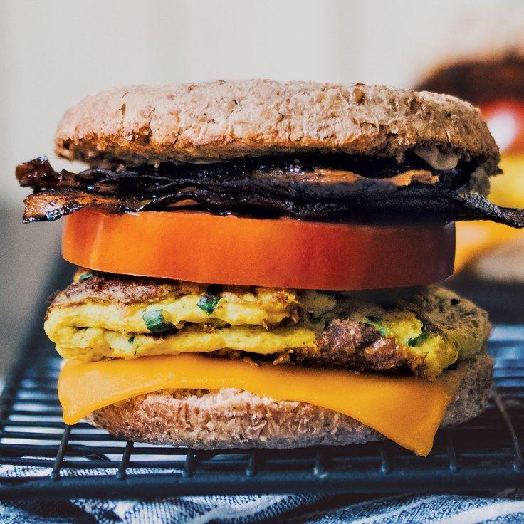 The Best Vegan Breakfast Sandwich Recipe Best Vegan Breakfast Healthy Fast Food Breakfast Vegan Breakfast