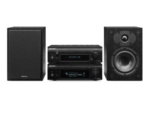 Denon D-F109DABNBKBKEK Network Streamer System with Network Player, DAB Receiver and Speakers - Black - http://Media-Streaming-Devices.co.uk/product/denon-d-f109dabnbkbkek-network-streamer-system-with-network-player-dab-receiver-and-speakers-black/