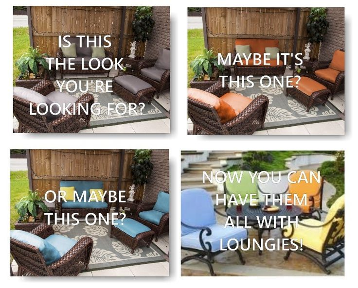 REFASHION your outdoor furniture. Change the colour scheme and keep up with trend.