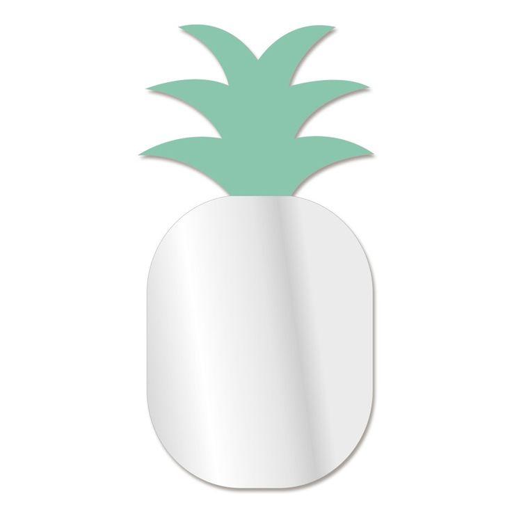 Cet été nos décorations seront fruitées ! Et les chambres de nos enfants aussi ! Pour cela, on se laisse tenter par des stickers citrons... ou bien un miroir en forme d'ananas ! Ce miroir au design original sera l'objet déco parfait pour se lancer dans l'été. Grâce à lui, vous pourrez même vous prendre pour un fruit ! Format : 17 x 34 cm
