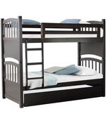 Buy McLamar Bunk Bed  with Pull Out in Cappuccino Finish by Mollycoddle  Online: Shop from wide range of Kids Furniture Online in India at best prices. ✔Free Shipping✔Easy EMI✔Easy Returns
