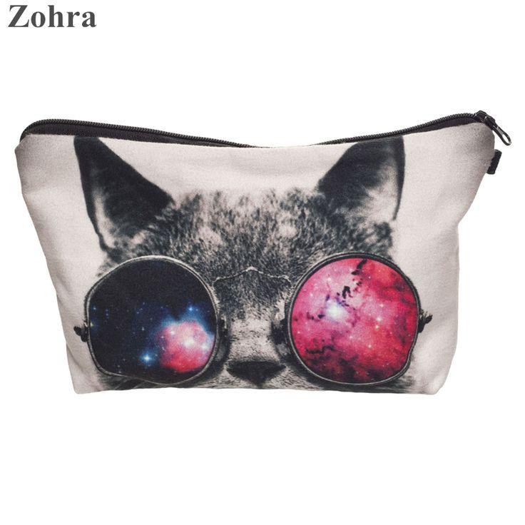 Barato Zohra óculos de sol gato 3D impressão necessaire Mulheres Sacos Cosméticos neceser viagem bolsa organizador maleta de maquiagem bolsa de Maquiagem, Compro Qualidade Bolsas para Remédios & Capas diretamente de fornecedores da China:     Zohra óculos de sol gato 3D impressão necessaire Mulheres Sacos Cosméticos neceser viagem bolsa organizador maleta d