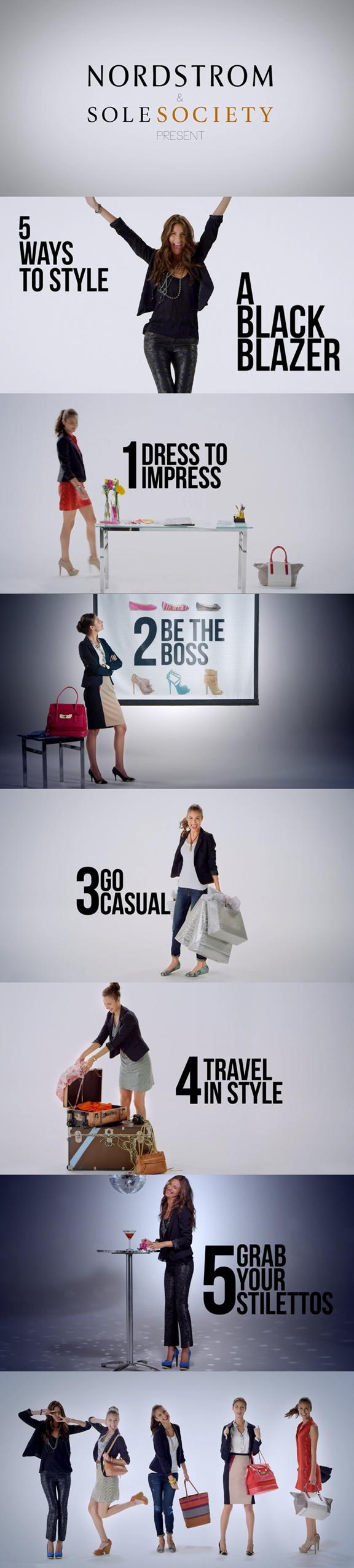 5 Ways to Style a Black Blazer via @Nordstrom & @SoleSociety
