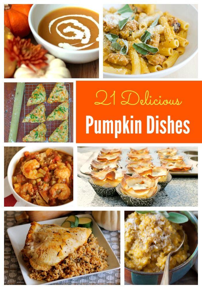 21 Delicious Pumpkin Dishes via kristitrimmer
