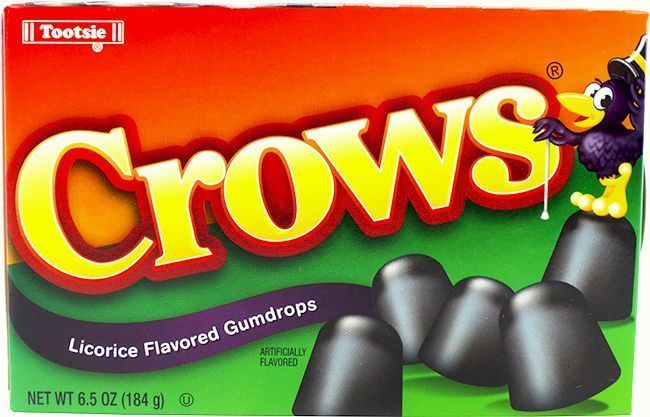 crows candy black licorice