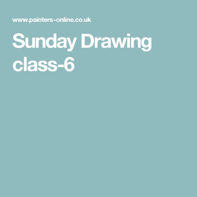 Sunday Drawing class-6