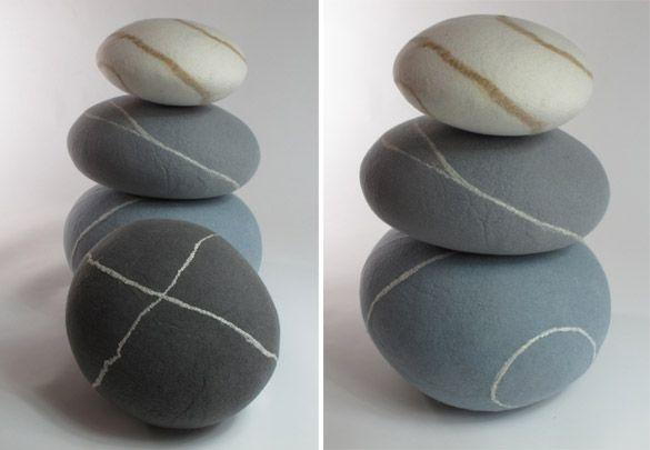 Steine aus Filz #kieselstein #isarsteine
