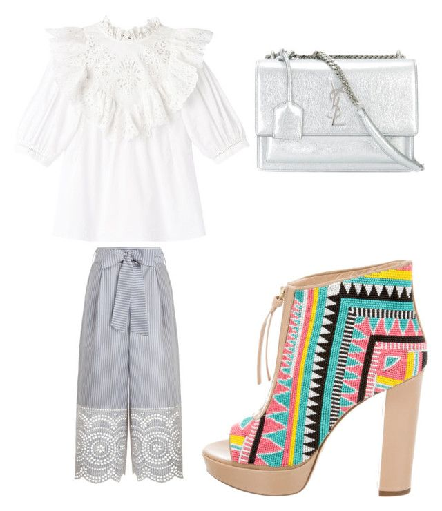 """""""Untitled #184"""" by jessieeev on Polyvore featuring Zimmermann, Jerome C. Rousseau and Yves Saint Laurent"""