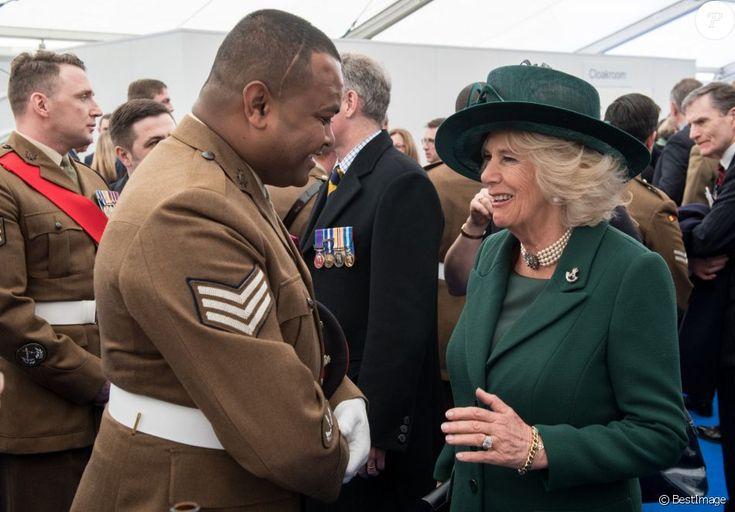 Camilla Parker Bowles, duchesse de Cornouailles- La famille royale britannique à la réception qui suit l'inauguration d'un monument à la mémoire des soldats britanniques tombés en Irak et en Afghanistan à Londres le 9 mars 2017.