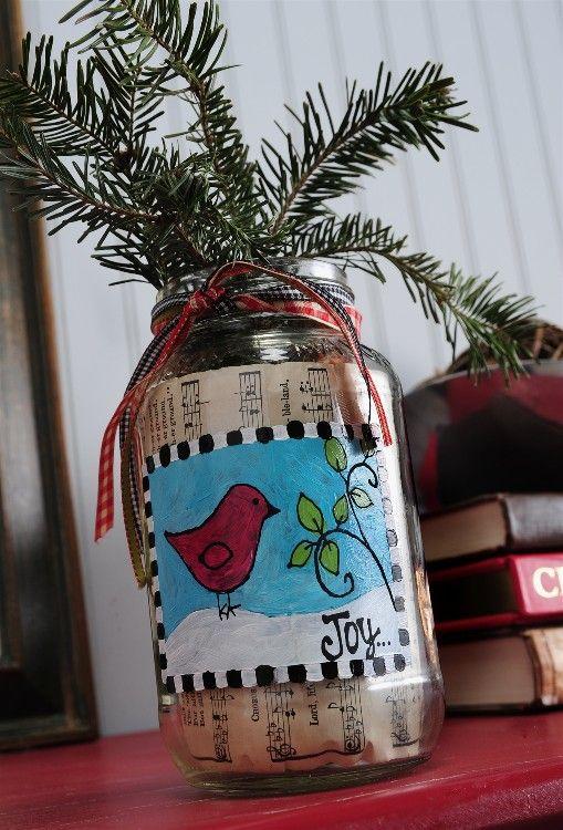 Christmas Joy Vase