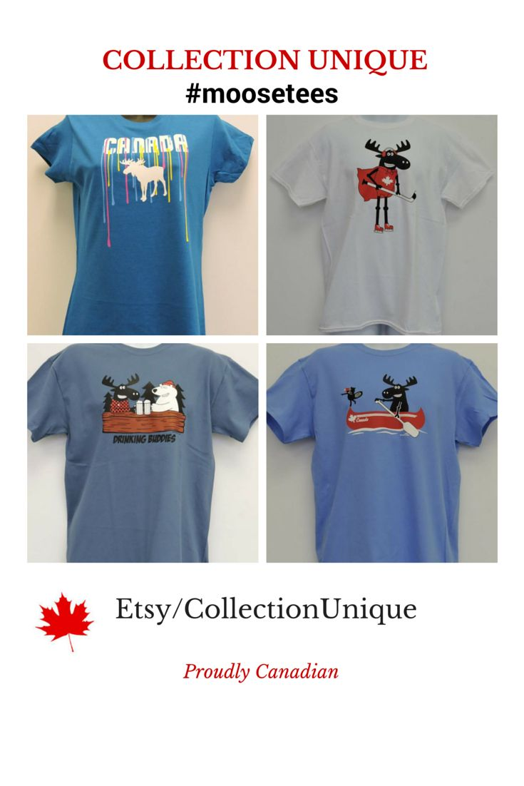Canada #moose cotton t-shirts made in Canada
