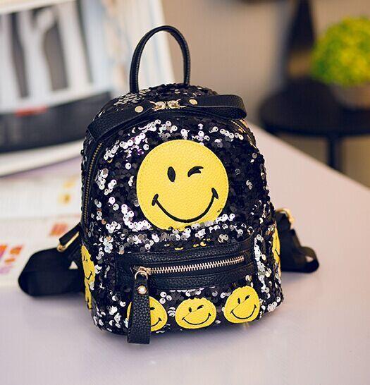 Sequin Emoji Backpack