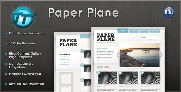 Paper Plane HTML Theme