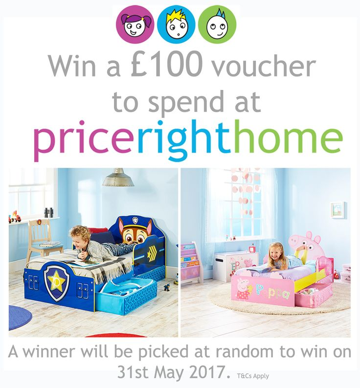 You're running out of time to enter our fabulous competition, get on over to our Facebook to grab yourself the opportunity of winning £100 to spend at PriceRightHome! Who can say no to free money?!