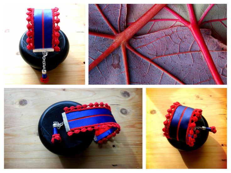Bracciale nastro e macramè; Ribbon macrame bracelet di SandraEnne su Etsy