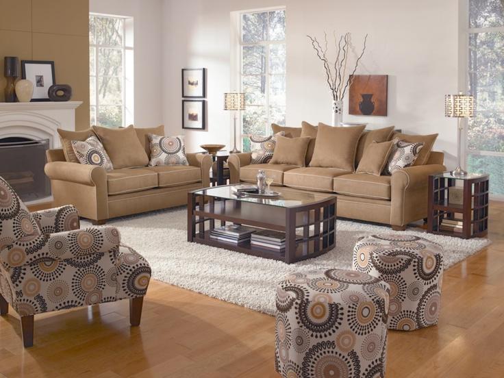 cameron brown 2pc sofa u0026 loveseat package value city furniture