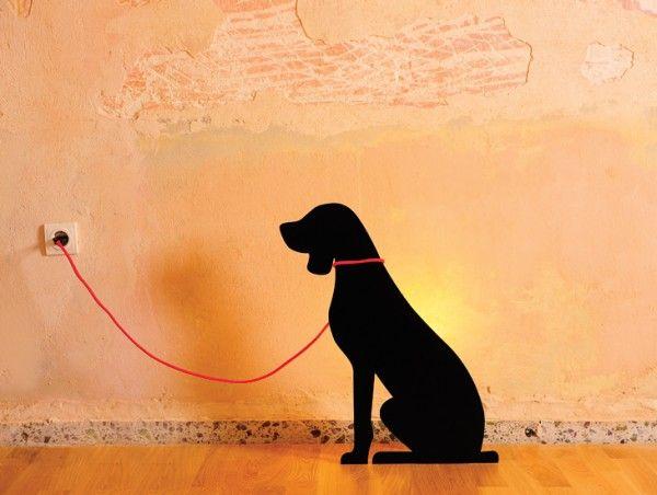 Φωτιστικό Litte friend/dog Προϊόν σχεδιασμού της Ρίτσα Αναστασιάδου Διαθέσιμο σε μαύρο χρώμα Υλικό: αμοβολή σε ατσάλι Λάμπα και ντουϊ: E27, 60W