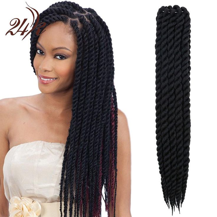 Havana Mambo Twist Crochet Braids Hair 16 Inch Senegalese Synthetic Crochet Twist Braiding Hair Extensions