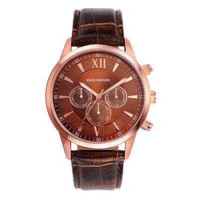 Mark Maddox - Men\'s Classic Brown Leather Chronograph Watch - HC6002-43 - Online Price: £85.00
