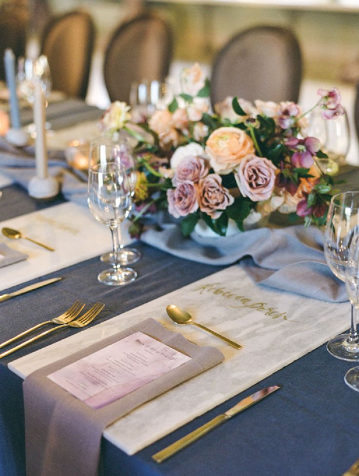 Holiday Entertaining Style in Marble and Gold