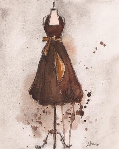 by Lauren Maurer. [Watercolor & Charcoal Painting]