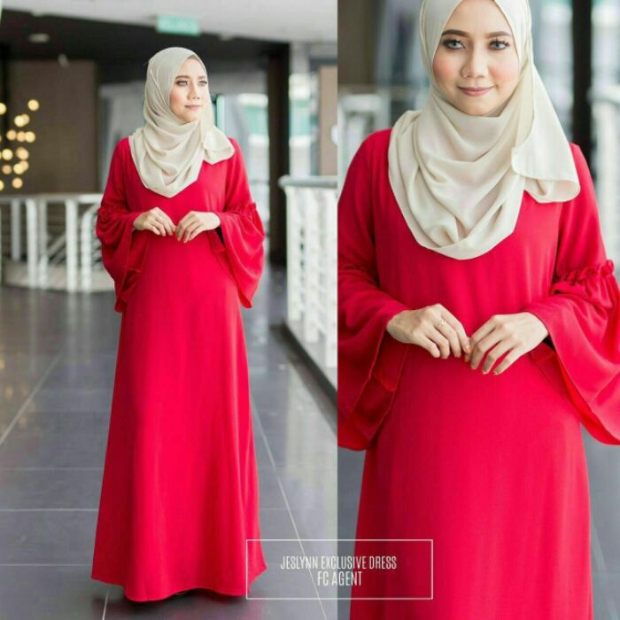 Jeslynn exclusive Dress 🌸Price :Rm95 free postage sem /add rm5 for ss…