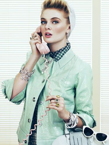 #Marc #Jacobs jacket, shirt, skirt and #headband (retro office accessories) #retro #style