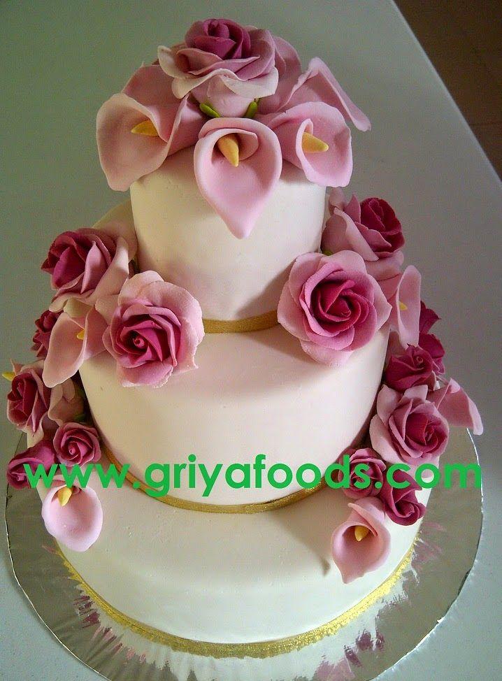 GriYa Foods: Cara Membuat Wedding Cake dengan Hiasan Fondant. www.griyafoods.com