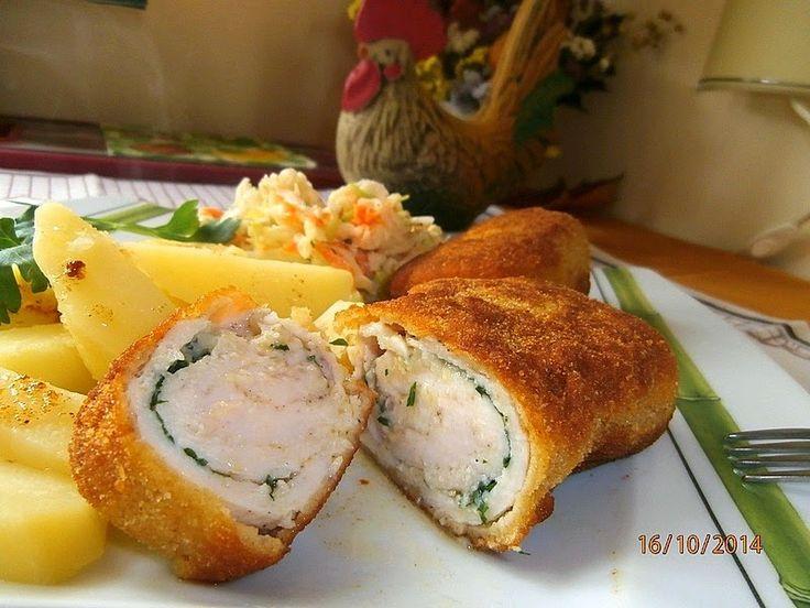 Maminek kulinarny: Filet z kurczaka z masłem czosnkowym