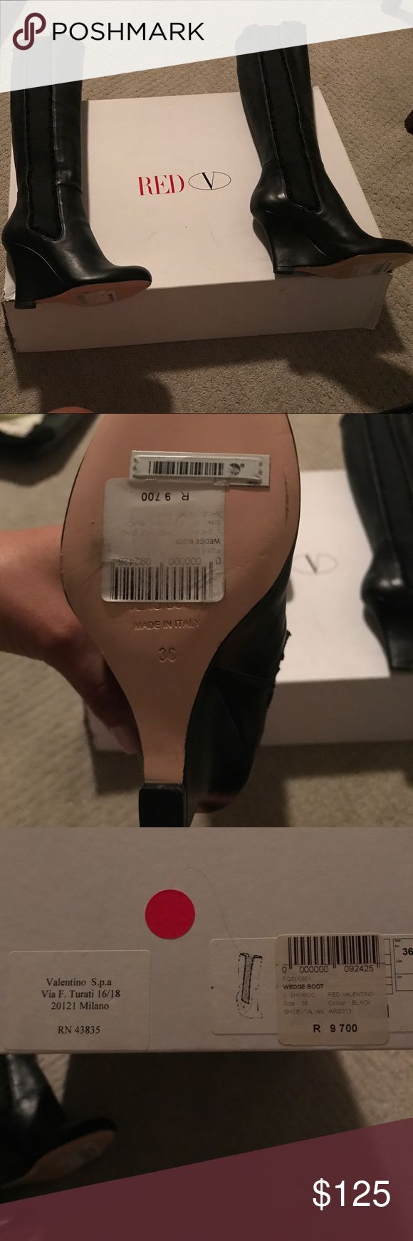 Valentino wedge boots Brand new never  worn size 36 Valentino s.p.a. Come from a smoke free home Valentino Shoes Heeled Boots