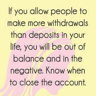 The good old bank account analogy.