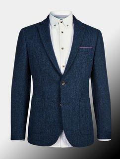 Montague Burton Blue Herringbone Blazer