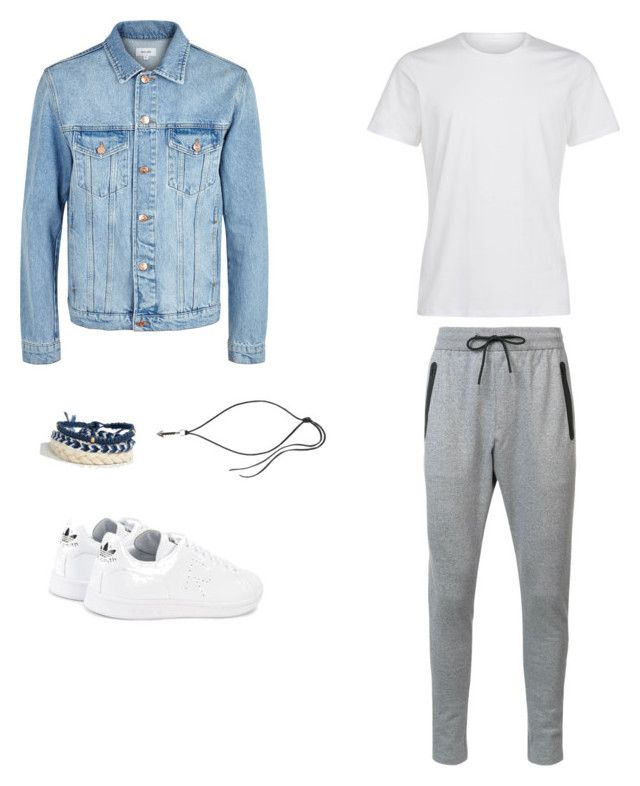 """Без названия #5"" by hyzirt on Polyvore featuring Soulland, Zanerobe, adidas, Icon Brand, Lanvin, men's fashion и menswear"