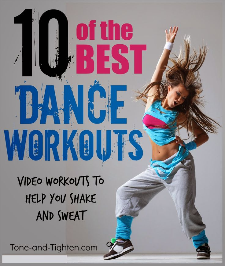 10 of the best dance workout videos online. All FREE and all on Tone-and-Tighten.com. #workout #fitness #video