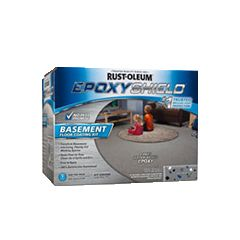 Give your basement a fresh, new floor that's more durable, more attractive and easier to clean than concrete. Rust-Oleum® EPOXYSHIELD® Basement Floor Coating Kit applies in one easy coat and protects against stains, cracking and wear.