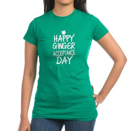 Ginger Acceptance Day T Shirt  #redhead #gingers #stpatty #stpatricksday #typography #quotes #slogans #funny #humor #shirts #green #irish #juniors