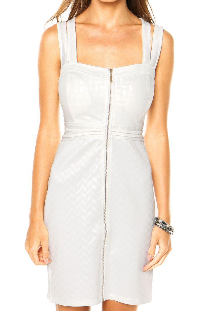 Vestido Facinelli Geométrico Branco - Marca Facinelli by MOONCITY