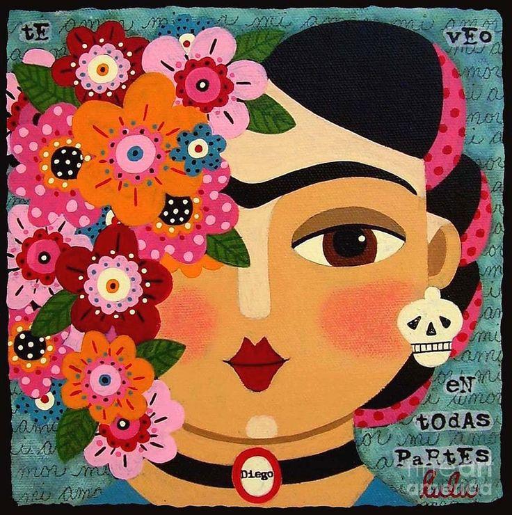 mexican skull drawing frida - Buscar con Google