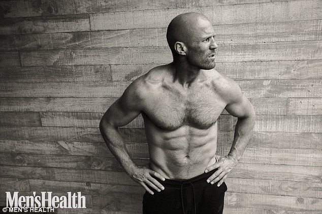 Shirtless: Jason Statham has posed shirtless for the latest issue of Men's Health magazine