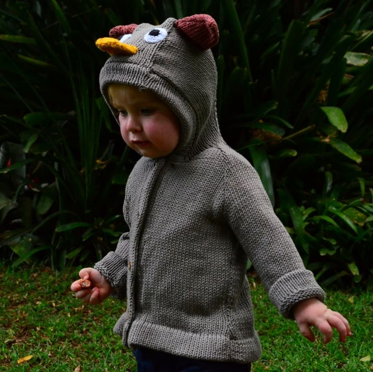 Organic Cotton Owl Sweater for Kids and Babies