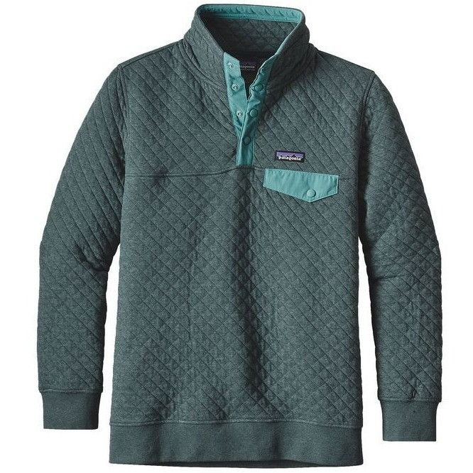 Patagonia Women's Cotton Quilt Snap-T Pullover- Nouveau Green