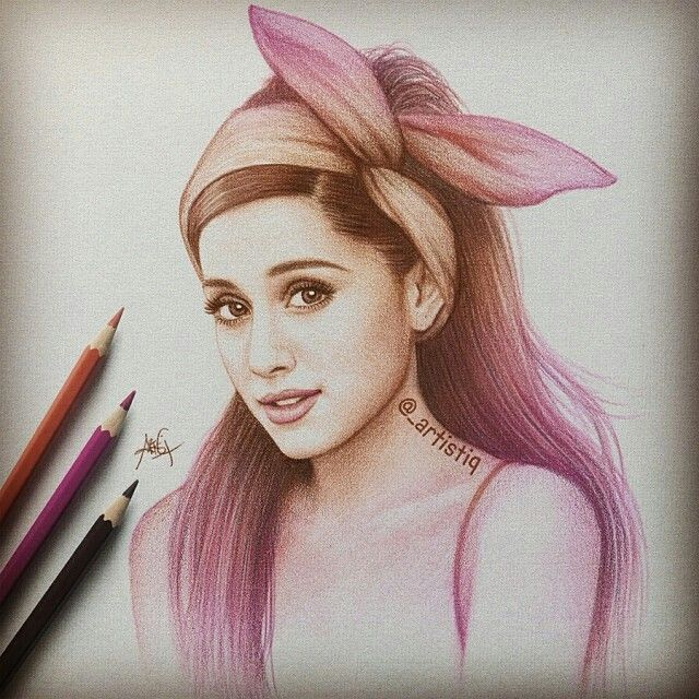 Ariana grande drawing x